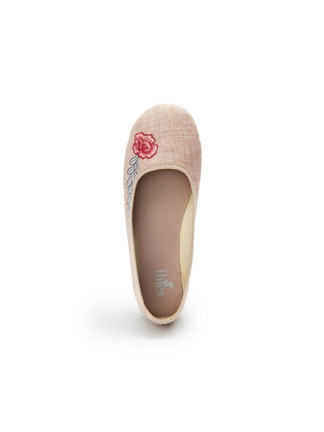 thies bio öko baumwoll ballerina blume beige (6)